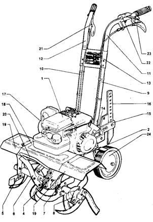 Мотокультиватор Крот МК-3-04,