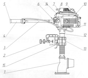 водометная насадка для лодочного мотора кальмар