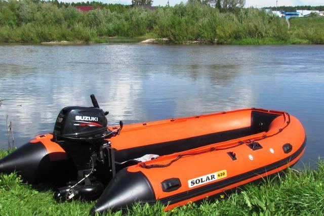 Моторная лодка Солар-420 Джет