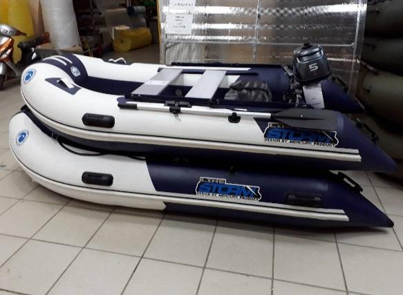 Моторная-гребная лодка ПВХ Штормлайн-380