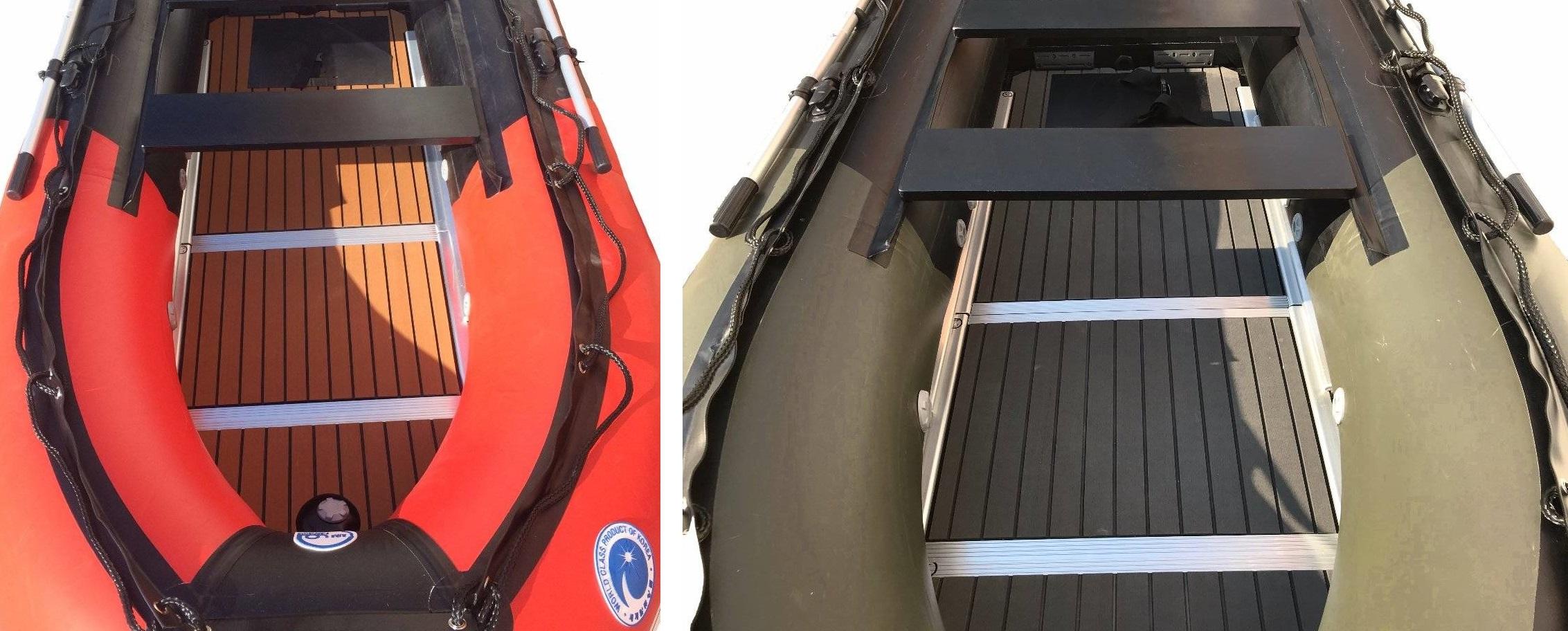 Тиковое покрытие палубы лодок ПВХ Stormline серии Flexiteek