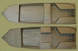 Лодка болотоход Surface Drive 1848SD